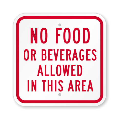 500No-Food-Beverages-Sign-K-5349